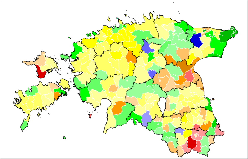 Estonia2007 by municipality