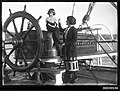 Ethel May Sterling and her daughter Margaret Francis Sterling on the deck of E R STERLING, 1921-1925 (7828501400).jpg