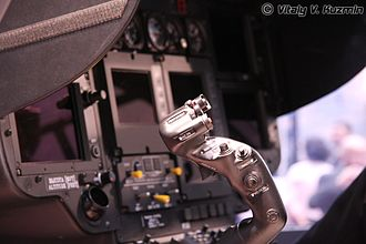 Helicopter flight controls - Cyclic control in a H145