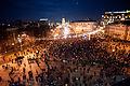 Eurointegration supporters flooding Michailovska square. November 30, 2013.jpg