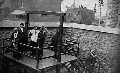 The execution of stanislaus lacroix, march 21, 1902, hull, quebec. at