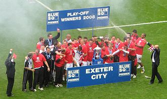 2007–08 in English football - Exeter City celebrate their 2008 Conference National play-off final win.