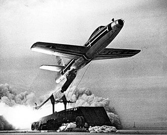 Zero-length launch - F-84 during ZELL testing