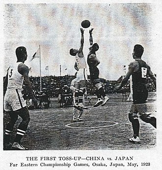 Japan national basketball team - Japan against China at the 1923 Far Eastern Games.