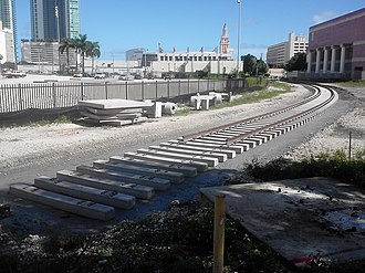 PortMiami - The rail line being renovated in November 2011