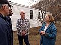 FEMA - 33721 - California residents outside their FEMA provided mobile home.jpg