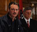 FEMA - 34812 - FEMA Administrator David Paulison Meets and Governor Mike Beebe at Press Conference.jpg