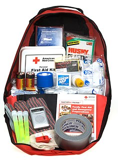 Bug-out bag Portable kit containing items to survive for 72 hours