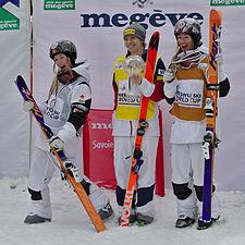 FIS Moguls World Cup 2015 Finals - Megève - 20150315 - Justine Dufour-Lapointe, Hannah Kearney et Chloé Dufour-Lapointe 6.jpg