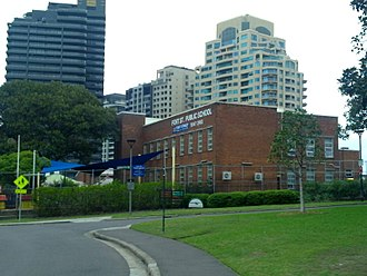 Fort Street Public School - Image: FSPS view to south 2014