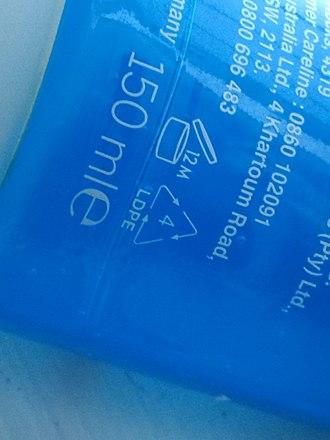 Low-density polyethylene - Facial wash gel bottle made of LDPE