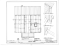 Farmhouse - Floor Framing Plan - Dudley Farm, Farmhouse and Outbuildings, 18730 West Newberry Road, Newberry, Alachua County, FL HABS FL-565 (sheet 4 of 22).png