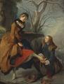 Fastening the Skate (Nicolas Lancret) - Nationalmuseum - 17848.tif