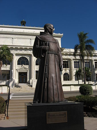 Father Serra statue by John Palo Kangas, commissioned by the WPA in 1935