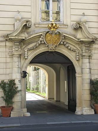 Theresianum - Entrance to the Diplomatic Academy adjacent to Theresianum