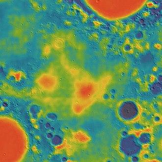 Mare Fecunditatis - Image: Fecunditatis basin GRAIL gravity