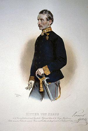 Generalstabsarzt - k.k. GenStArzt Felix Ritter von Kraus, 1864.