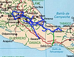 ferrosur mappng map of ferrosur network in southern mexico