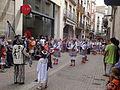 Festa Major d'Igualada 2014 - 02 Cercavila de trasllat de Sant Bartomeu - Ball de Cercolets d'Igualada.JPG