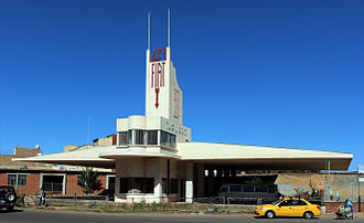 Italian Eritrea - Fiat Tagliero Building, Gas Station in Art deco style of Italian Asmara.