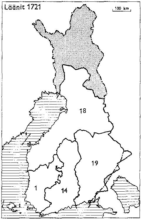 Finnish counties 1721