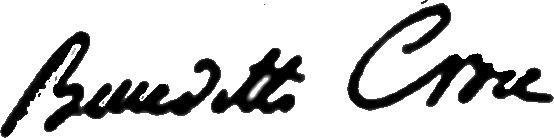 Benedetto Croce's signature