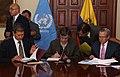 Firma de Convenios de Cooperación en materia de drogas entre Ecuador y la Oficina de las NNUU contra la droga y el delito-ONUDD (5512320189).jpg