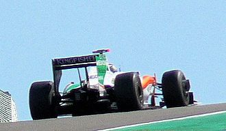 2009 Belgian Grand Prix - Giancarlo Fisichella claimed the maiden pole position for Force India.