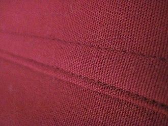 Seam (sewing) - A flat fell seam