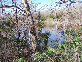 Graham, Texas - An impoundment in Flatrock Creek, Young County, Texas