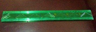 Ruler - A flexible ruler unstretched