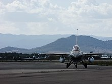 Flickr - Israel Defense Forces - F-16 Takes Off as Part of IAF Delegation to Sardinia.jpg