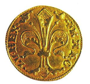 Charles I of Hungary - A gold forint of Charles, based on the Italian florin made popular by the Republic of Florence in the 13th century