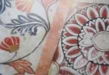 Lotus Flower Art Kandyan period frescoe...