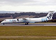 DHC-8 at Bristol Airport.
