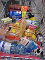 Food shopping in Romania 10 September 2006.JPG