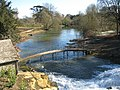Footbridge crosses the river below the cascade at Blenheim - geograph.org.uk - 1748508.jpg