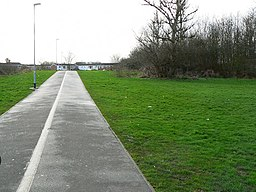 Footpath-cycletrack from Dorcan Way to Eldene Drive, Swindon - geograph.org.uk - 306822.jpg