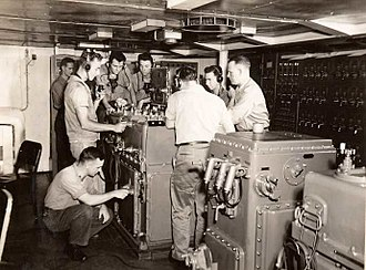 Fire-control system - Ford Mk 1 Ballistic Computer. The name rangekeeper began to become inadequate to describe the increasingly complicated functions of rangekeeper. The Mk 1 Ballistic Computer was the first rangekeeper that was referred to as a computer. Note the three pistol grips in the foreground. Those fired the ship's guns.