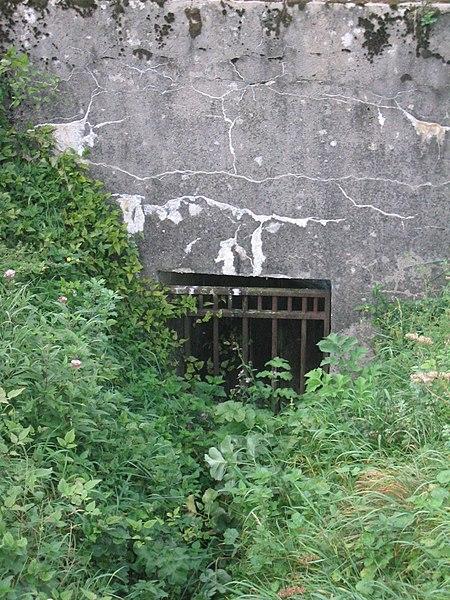 Fort de Douaumont - Une entrée condamnée