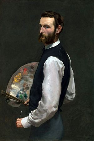 Frédéric Bazille - Frédéric Bazille, Self-portrait, 1865–1866,  oil on canvas, Art Institute of Chicago