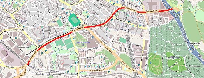 Frösundaleden open street map 2012.jpg