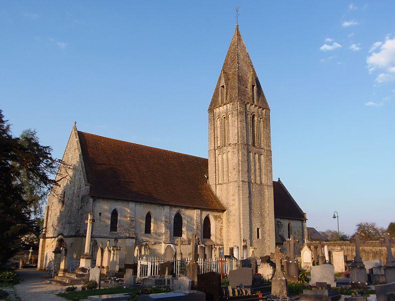 Rosel (Normandie, France). L'église Saint-Martin (classée).
