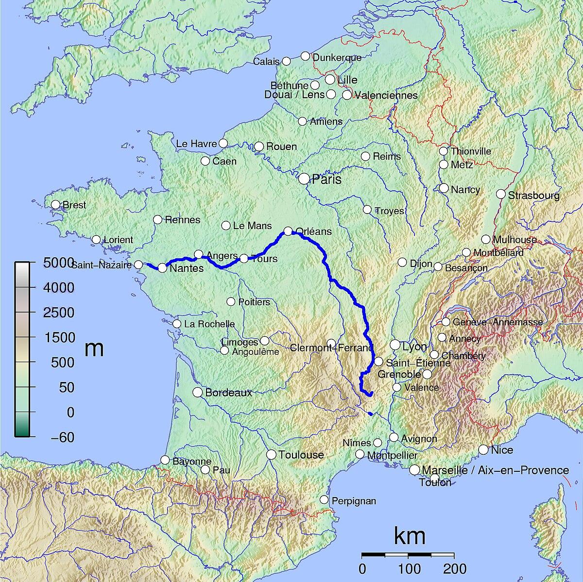 frankrike karta floder Loire – Wikipedia frankrike karta floder