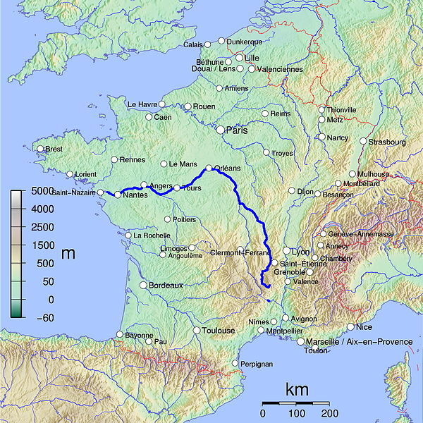 Tiedosto:France map with Loire highlighted.jpg