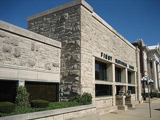 Frank L. Smith Bank - Frank Lloyd Wright's Frank L. Smith Bank in Dwight