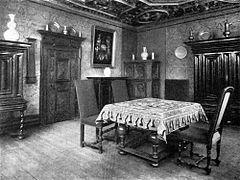 Historisches Wohnzimmer In Der Goldenen Waage Altstadt Von Frankfurt Am Main