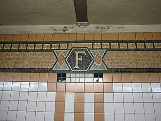 Franklin Street (IRT Broadway–Seventh Avenue Line) - Mosaic border