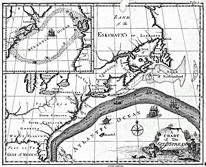Westerlies - Benjamin Franklin's map of the Gulf Stream