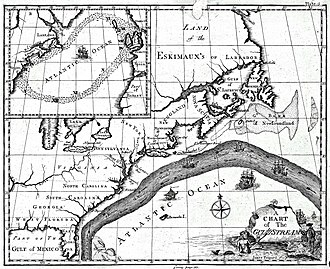 Gulf Stream - Benjamin Franklin's map of the Gulf Stream